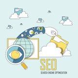 Optimización del Search Engine stock de ilustración