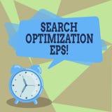 Optimización EPS de la búsqueda de la demostración de la muestra del texto Proceso conceptual de la foto que afecta a la visibili stock de ilustración