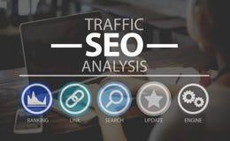 Optimización SEO Information Internet Concept del Search Engine Fotos de archivo libres de regalías