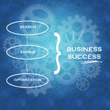 Optimización y éxito empresarial del Search Engine ilustración del vector