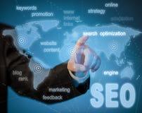 Optimización del Search Engine de SEO Foto de archivo libre de regalías