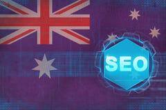 Optimization för motor för Australien seosökande Begrepp för sökandemotoroptimisation Arkivbilder