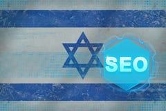 Optimization för motor för Israel seosökande frambragd bildseo för dator begrepp Arkivbild