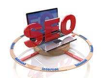 Optimization för SEO-sökandemotor stock illustrationer