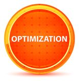 Optimization Natural Orange Round Button stock illustration