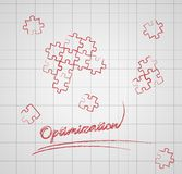 Optimization with puzzle pieces Stock Photography
