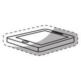 Optimization and tuning smartphone database icon Stock Photo