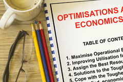 Optimization and utilization concept Royalty Free Stock Photography