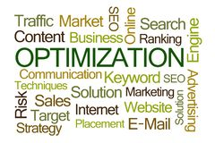 Optimization Word Cloud stock illustration