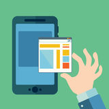 Optimize web page for mobile phone Royalty Free Stock Photo