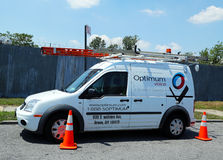 Optimum cable service truck in Brooklyn Stock Photography