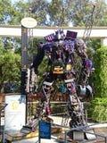 Optimus prima robić recyclable metalu świstkiem zdjęcia royalty free