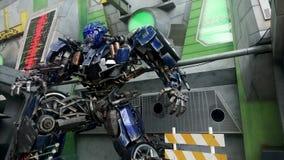 Optimus Prime Robot Model Stock Photo