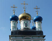Optina. Domes of the temple Royalty Free Stock Image
