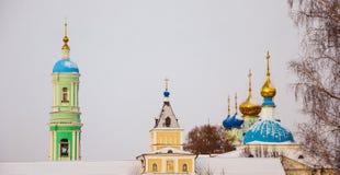 Optina Pustyn. Domes and crosses of Vvedensky Monastery - Optina Stock Image