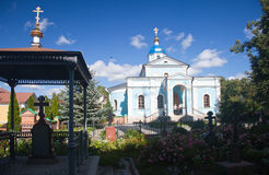 Optina Pustyn monastery. Optina Pustyn. The temple in honor of the Vladimir icon of the Mother of God Stock Images