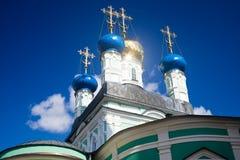 Optina Pustyn monastery. Vvedensky Cathedral. Kozelsk, Russia Royalty Free Stock Image