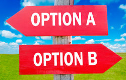 Option A and B Stock Photography