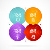 Option banner infographic concept empty. Vector Stock Photography