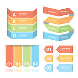 Option banner infographics set Stock Images