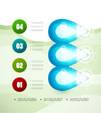Option banner modern infographic Royalty Free Stock Photos