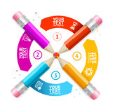 Option Banner Pencil Infographic. Vector Royalty Free Stock Images
