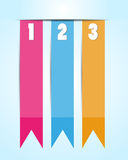 1 2 3 Option banner ribbons Royalty Free Stock Photo