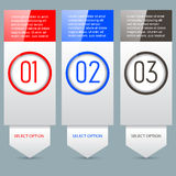 Option Banners Royalty Free Stock Image