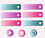 Option buttons Royalty Free Stock Images