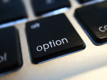 Option Computer Key Stock Photo