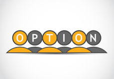 Option concept Stock Photography