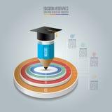 Option d'étape du calibre 4 d'infographics d'éducation illustration stock