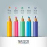 Option d'étape du calibre 5 d'infographics d'éducation illustration de vecteur