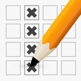 Option de contrôle de crayon Photos libres de droits