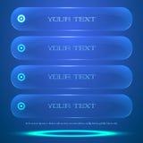 Option de menu rétro-éclairée faite dans le style de  Image stock