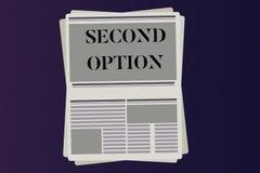 Option des textes deuxièmes d'écriture de Word Concept d'affaires pour prochain Fiddle Not une prochaine occasion alternative pri illustration de vecteur