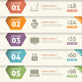 Option et prix infographic Photographie stock