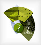 Option infographic presentation layout Stock Photos