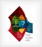 Option infographic presentation layout Royalty Free Stock Photos