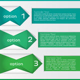 Option Infographic. Vector Illustration Stock Photography