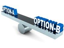Option a ou b Illustration Libre de Droits