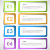 1-2-3-4 option - paper frames template Stock Images