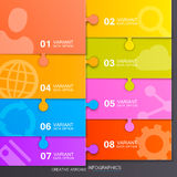 Option of puzzle infographics Royalty Free Stock Photography