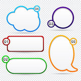 Option speech bubbles. Modern speech bubbles for option or choice. Vector eps10 Stock Images
