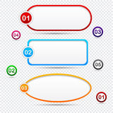 Option speech bubbles. Modern speech bubbles for option or choice. Vector eps10 Stock Photos