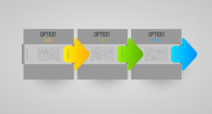 Option steps banners Royalty Free Stock Image