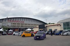 Option Thailand Fest 2014 BANGKOK, THAILAND- August 1,2014  cars shows at Thunder dome,Muengthong Thanee Royalty Free Stock Photo
