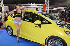 Option Thailand Fest 2014 BANGKOK, THAILAND- August 1,2014  Unidentified model presented car kits at Thunder dome,Muengthong Thane. E Royalty Free Stock Photography