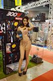 Option Thailand Fest 2014 BANGKOK, THAILAND- August 1,2014  Unidentified model presented lubricant oil at Thunder dome,Muengthong. Thanee Stock Image