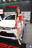 Option Thailand Fest 2014 BANGKOK, THAILAND- August 1,2014  Unidentified model presented Toyota at Thunder dome,Muengthong Thanee Royalty Free Stock Photos